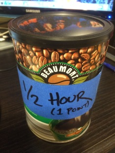 Half-hour hero coffee can